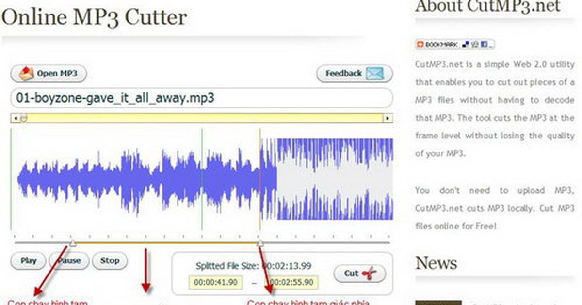Cắt nhạc MP3 online, không chờ tải file - Tuổi Trẻ Online