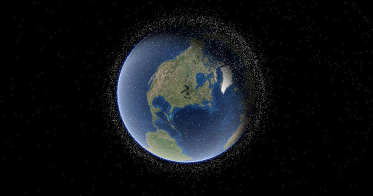Ngoạn mục bản đồ14.000vệ tinh quay quanh Trái đất