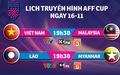 Lịch trực tiếp AFF Cup 2018: Việt Nam quyết đấu Malaysia