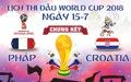Lịch trực tiếp trận chung kết World Cup 2018