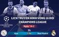 Lịch thi đấu Champions League ngày 14-2: Tottenham đối đầu Dortmund
