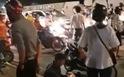 Clip hiện trường bi thảm ôtô húc 4 xe máy ở quận 7, 1 người chết