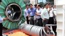 Xem người Nhật trình diễn công nghệ lót ống không đào đường