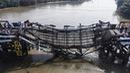 Hiện trường vụ sập cầu Long Kiển nhìn từ trên cao