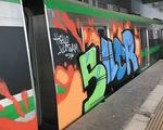 Tàu đường sắt Cát Linh - Hà Đông bị đột nhập vẽ Graffiti