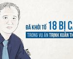 18 bị can đã bị khởi tố trong vụ án Trịnh Xuân Thanh