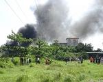 Xưởng nệm mút hàng trăm mét vuông cháy rụi trong vài chục phút