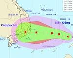 Áp thấp nhiệt đới đang cách Song Tử Tây 300km, gió giật cấp 9