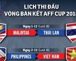 Lịch thi đấu bán kết AFF Cup 2018
