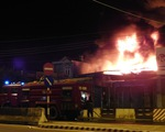 Cháy bãi xe bồn kho xăng dầu Nha Trang