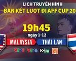 Lịch truyền hình bán kết AFF Cup 2018 ngày 1-12