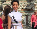 H'Hen Niê mang áo dài thổ cẩm lên tạp chí Vogue Thái Lan