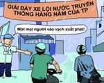 Hí họa Sài Gòn mùa... tụ nước