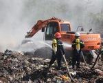 Bãi rác 'đóng cửa' từ năm 2011 bất ngờ bốc cháy