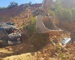 Sập mỏ đất, 2 xe ben và tài xế bị vùi lấp