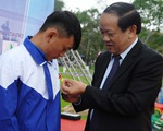 4 thanh niên cứu người trong lũ được trao, truy tặng huy hiệu Tuổi trẻ dũng cảm