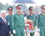 An táng 44 hài cốt liệt sĩ quân tình nguyện Việt Nam