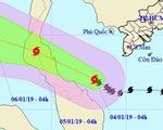 Qua mũi Cà Mau, bão số 1 mạnh lên, Nam Bộ mưa lớn, dông lốc