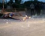 Thêm một vụ xe container cán chết người, tài xế phóng xe bỏ trốn