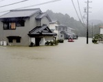 Siêu bão Hagibis lớn nhất 61 năm nay đang cuồn cuộn tràn vào Nhật