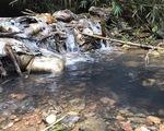 Vụ nước có mùi lạ ở Hà Nội: Xe tải đổ trộm dầu nhớt gần nhà máy nước sông Đà