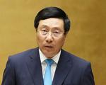 Phó thủ tướng Phạm Bình Minh: Đã chuyển thông tin các gia đình báo người thân mất tích cho phía Anh
