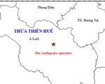 A Lưới có động đất, nhiều người dân ở TP Huế  cảm nhận được