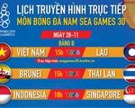 Lịch trực tiếp U22 Việt Nam gặp Lào ở SEA Games 2019