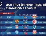 Lịch trực tiếp, kèo nhà cái, dự đoán kết quả Champions League ngày 6-11