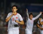 U22 Việt Nam - Indonesia (hết hiệp 1) 1-0: Văn Hậu mở tỉ số
