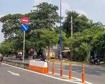 Lắp dải phân cách trên đường song hành Xa lộ Hà Nội, dân bớt nỗi lo tai nạn