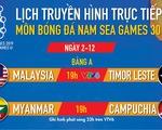 Lịch thi đấu bóng đá nam SEA Games 2019: Gây cấn Myanmar - Campuchia