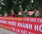 Dân Nha Trang lại căng băngrôn đòi đất tại dự án Sông Lô