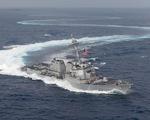 Tàu chiến Mỹ bất ngờ qua lại dày đặc ở eo biển Đài Loan