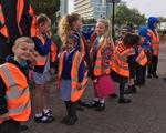 Trường tiểu học với thiết kế buộc học trò tiểu học đi bộ