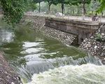 Bất ngờ khi nước sông Tô Lịch chuyển màu xanh