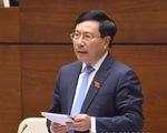 Phó thủ tướng Phạm Bình Minh lần đầu trả lời chất vấn trước Quốc hội