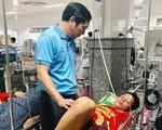 Thái dương bị lõm sau va chạm, Thiện Đức được chuyển lên Bệnh viện 115 TP.HCM