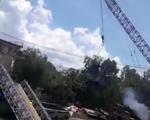 Vụ sập cầu Tân Nghĩa: Cần cẩu đổ khi cẩu xe tải