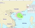 Vùng áp thấp trên Biển Đông đang hướng vào đất liền Việt Nam