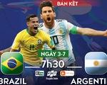 Lịch trực tiếp bán kết Copa America 2019: Đại chiến Brazil - Argentina