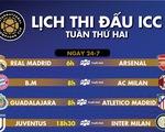 Lịch thi đấu ICC tuần thứ hai: Chờ đại chiến Madrid