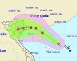 Áp thấp nhiệt đới sắp thành bão, mưa dông kéo dài