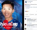 SC Heerenveen thông báo chào mừng Văn Hậu bằng tiếng Việt