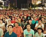 Hủy kế hoạch trực tiếp bóng đá ở phố đi bộ Nguyễn Huệ