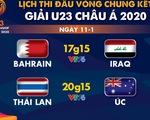 Lịch trực tiếp Giải U23 châu Á 2020: U23 Thái Lan đụng độ Úc