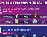 Lịch trực tiếp bóng đá châu Âu ngày 12-1: Tâm điểm Man City