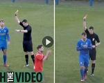 """Video: """"Mới thấy lần đầu"""" khi trọng tài rút 3 thẻ cùng lúc để đuổi 1 cầu thủ"""