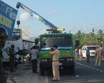 Đang xả trạm, xe khách 29 chỗ tông ngang xe máy, 1 người chết 1 bị thương