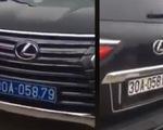Lại thêm vụ xe Lexus đầu biển xanh 80A, đuôi biển trắng 30A